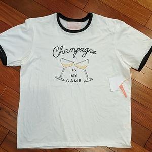 Ban.do Champagne Statement Tee Shirt New Medium